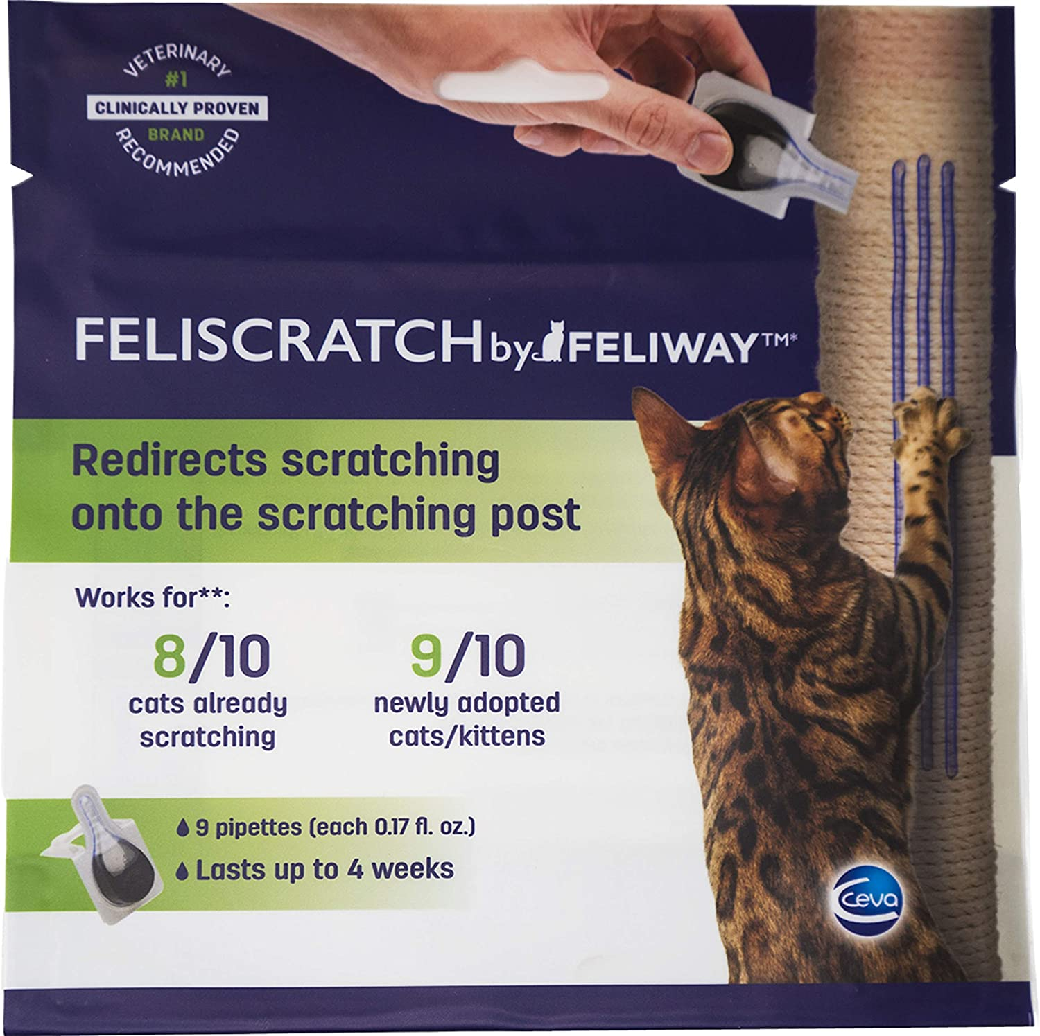Feliscratch by Feliway   Cat Scratch Redirector   9 Pipettes