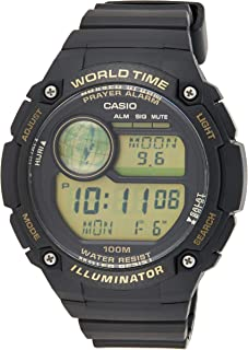 Casio Mens Digital Watch, Digital Display and Resin Strap CPA-100-9AVDF