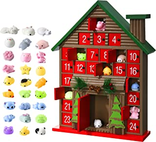 Tool Daily 2019 Christmas Wooden Advent Calendar for Kids with 25 Toys Stuffers, Wood Unique Christmas Countdown Advent Calendar for Boys, Girls, Teens with Drawers
