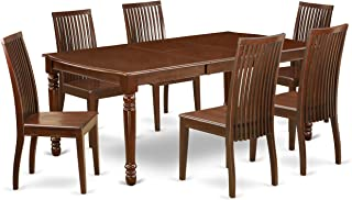 East West Furniture 7Pc Rectangle 60/78