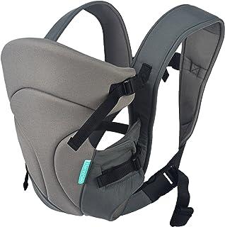 HarnnHalo - Portador de bebé, Baby Carrier, Manos Libres, Multifuncional, Plegable, De Control con una Sola Mano 11 Gris