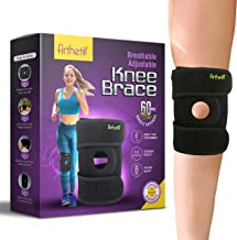 Arthetik Knee Brace, Relieves And Supports Meniscus Tear, Arthritis, PCL, ACL, LCL, MCL, Tendinitis Pain, Running, Sports Play, Open Patella Dual Stabilizers, Neoprene Brace, Non-Slip Straps