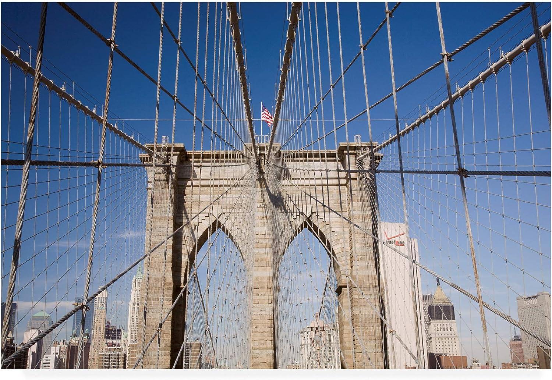 Trademark Fine Art Brooklyn Bridge City New York color 2 by Monte Nagler, 12x19