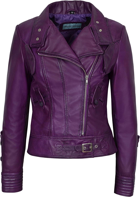 Supermodel Ladies Purple Green Rock Designer Real Biker 新着セール 国産品 Na Style