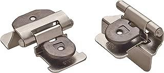 Amerock BPR8701G10 1/4 in (6 mm) Overlay Double Demountable Satin Nickel Hinge - 2 Pack