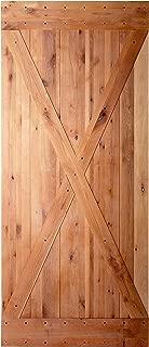 36x84 inches DIY Natural Knotty Alder Shiny Interior Sliding Barn Door Slab,Intermediate Plus