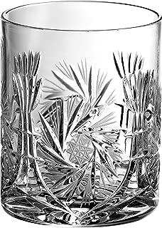 Barski - Hand Cut - Mouth Blown - Crystal - D.O.F - Tumbler - Pinwheel Design - Set of 4 - 14oz. - Made in Europe