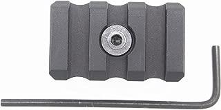3 Slots Keymod/M-LOK Picatinny Rail Sections Aluminum Mount Adapter Black Anodized