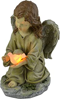 Best Moonrays Solar LED Fairy Garden Decor In Angel With Glowing Dove Design Review