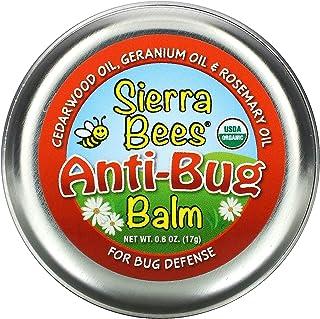 Sierra Bees Anti-Bug Balm, Cedarwood, Geranium & Rosemary Oil, 0.6 oz (17 g)