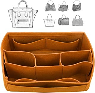 [Fits Ce.line Bags] Felt Tote Organizer (w/Detachable Compartments), Bag in Bag, Wool Purse Insert, Customized Tote Organize, Cosmetic Makeup Diaper Handbag