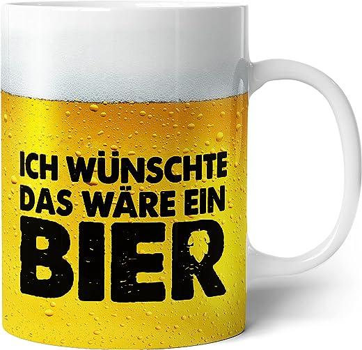 Tasse mit Bier Spruch