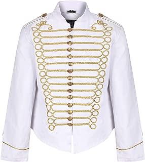 Men's Punk Officer Military Drummer Parade Jacket