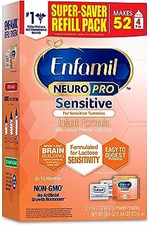 Enfamil NeuroPro Sensitive Baby Formula Gentle Milk Powder Refill, 29.4 Ounce - Omega 3 DHA, Probiotics, Immune Support