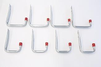 outils support mural en U Crochets de rangement robustes pour garage tuyau blanc abri de jardin crochets /à suspendre pour v/élo chaise /échelle support mural universel