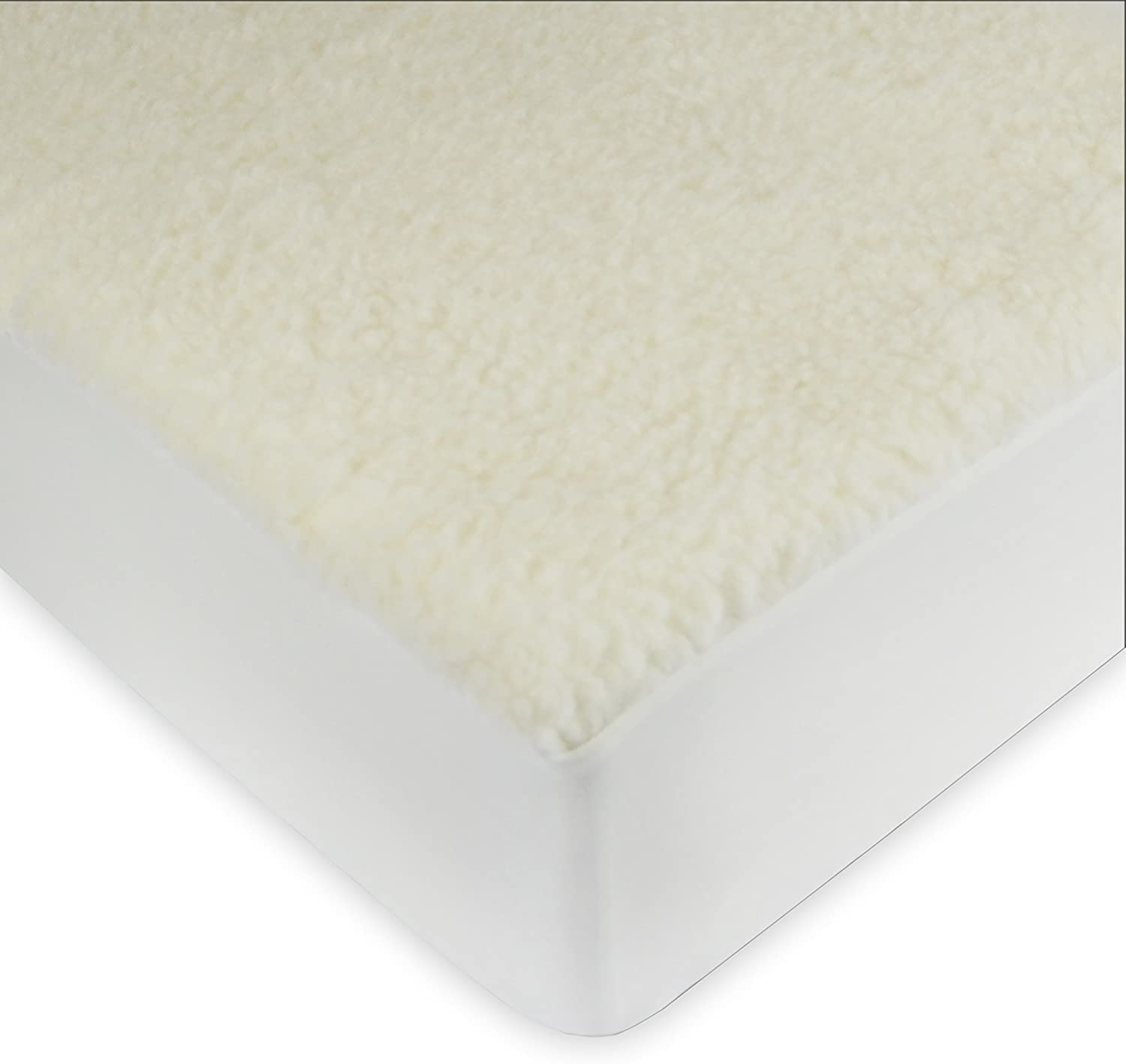 Century Home Signature Collection Woolmark Certified Pure Wool Fleece Mattress Pad, Full,