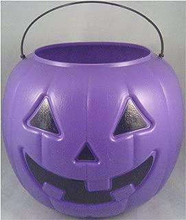 Halloween Pumpkin Jack O' Lantern Candy Bucket (Purple)