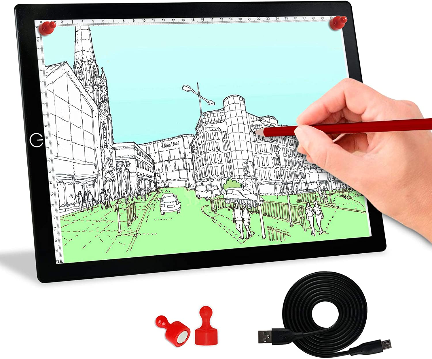 Japan's largest assortment Tracing Light Box A4 Board Portable Tracer Pad Mail order cheap LED