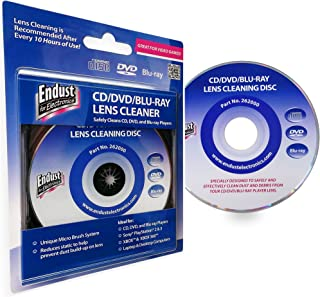 Endust 262000 Laser Lens Cleaner Disc for PlayStation Xbox One Xbox 360 Gaming Consuls Laptop and Desktop Computers CD Players Blu-Ray CD-DVD Players