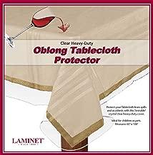 LAMINET Heavy Duty Deluxe Clear Vinyl Tablecloth Protector (60