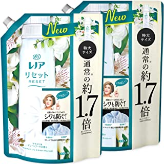 [Bulk Purchase] Lenor Reset Fabric Softener, Damage Care for Clothes, Yamayama Lily & Green Bouquet, Refill, Approx. 1.7 t...