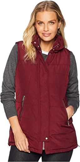 Puffer Vest w/ Zipper Detail