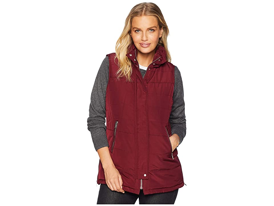 Tribal Puffer Vest w/ Zipper Detail (Zinfandel) Women