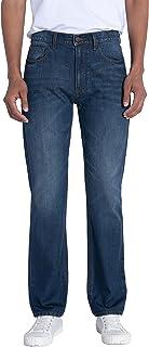 Sponsored Ad - ERSDGG Men's Regular-Fit Straight Leg Jeans Cotton Comfort Original Denim Pants