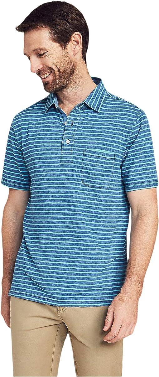 Indigo Turquoise Stripe