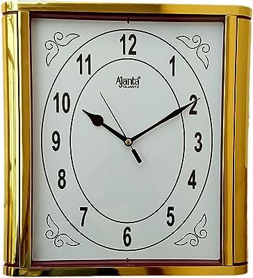 Ajanta Plastic Glass Wall Clock (28 x 26 cm, Red)