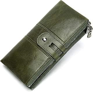 EKCIRXT Womens Small Bi-fold RFID Blocking Wallet with Zipper Coin Pocket, Soft Compact Card Holder Wallet