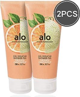 (FRUITS & PASSION) SHOWER GEL [ORANGE CANTALOUPE] 200ML 2 pcs Bundle, Shower Gel with vitamin E and Antioxidant product, b...