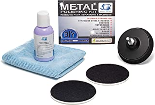 GP32003 Metal and Stainless Steel Polishing DIY Kit, Restores Stainless Steel, Chrome, Aluminium, Cooper/Removes Rust, Abrasions, Oxidation, Water Stains, Discoloration