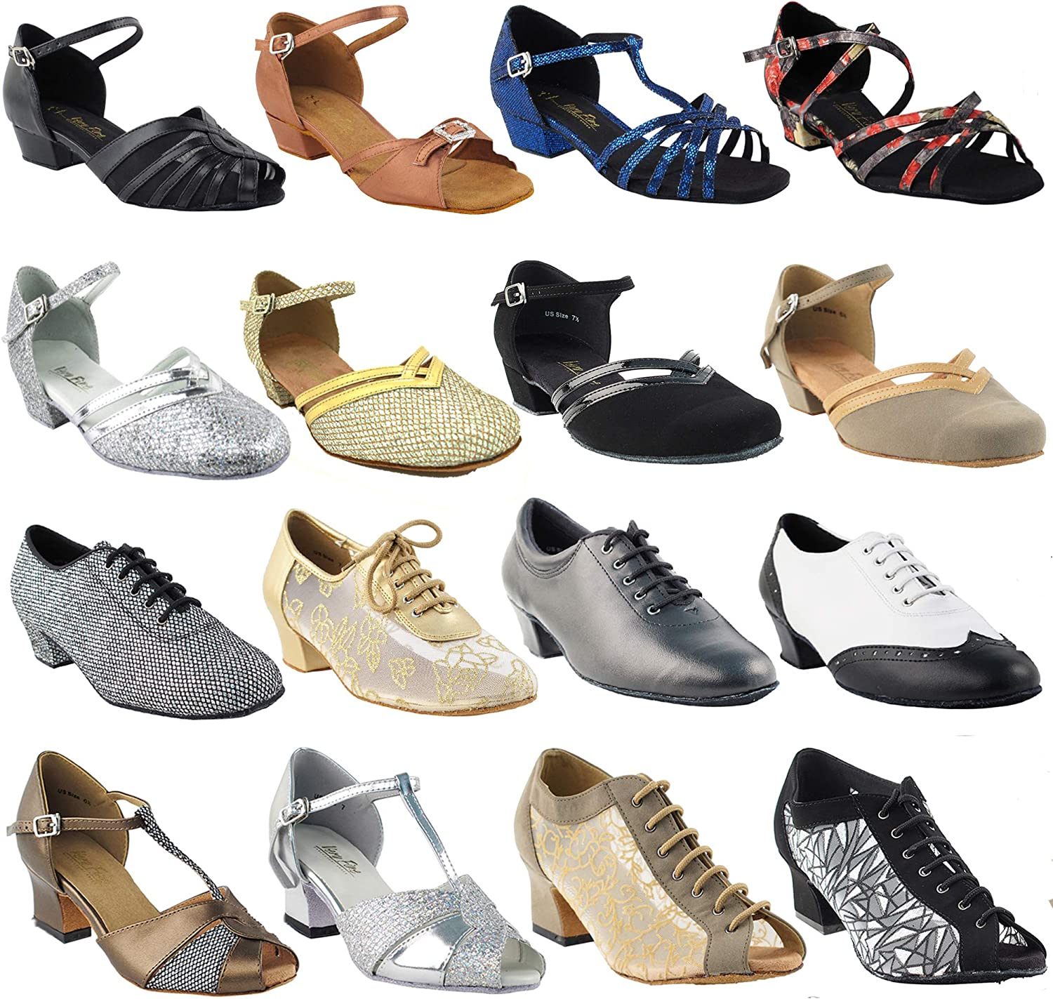 50 Shades Thick Block Heel Dance Shoes for Practice & Teaching: 1