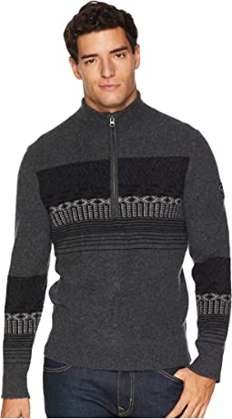 Textured 1/2 Zip Sweater