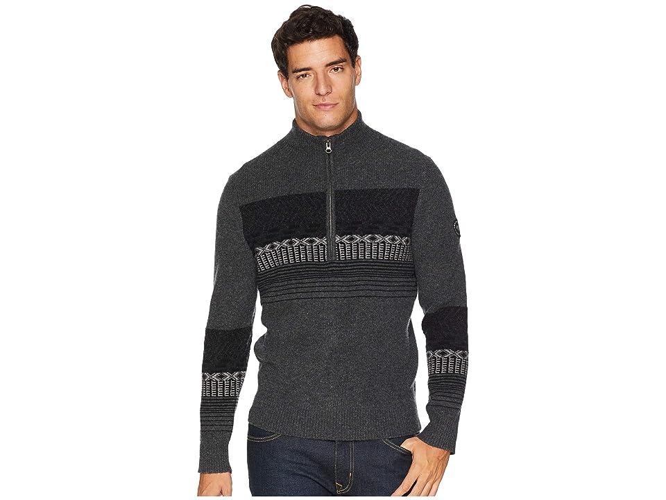 Obermeyer Textured 1/2 Zip Sweater (Grey Matter) Men