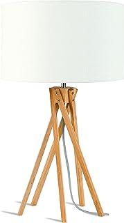 GOOD&MOJO KILIMANJARO Lampe à poser, Bambou, E27, 40 W, Blanc