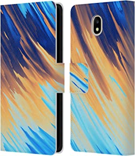 Official Andi Greyscale Two Sides of One Extreme Abstract Marbling Leather Book Wallet Case Cover Compatible for Samsung Galaxy J7 2017 / Pro