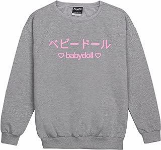 Minga London Baby Doll Sweater Top Sweatshirt Women's Tumblr Kawaii