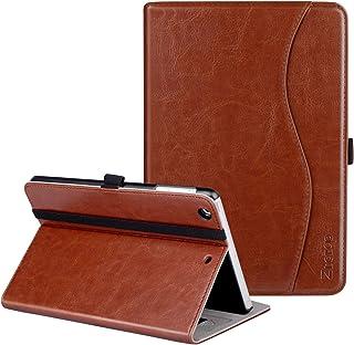 Ztotop iPad Mini 1/2/3 Case, Leather Folio Stand Protective Case Smart Cover with Multi-Angle Viewing, Pocket, Functional Elastic Strap for iPad Mini 3/ Mini 2/ Mini 1 - Brown