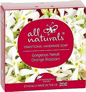 All Naturals Organic Natural Soap NEROLI BLOSSOM for Sensitive Skin with Luxurious Healing Oils Rose Hip, Jojoba, Coconut, Almond, Shea Butter 100 Grams