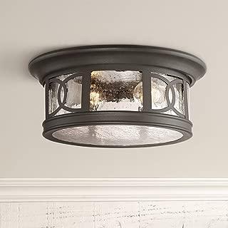 Capistrano Outdoor Ceiling Light Fixture Black 12