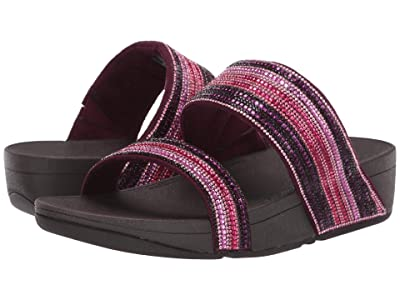 FitFlop Rosa Crystal Mosaic Slide (Dark Red) Women