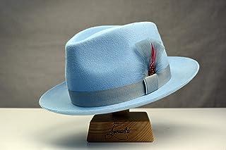 72f4492cee8b8 Amazon.com  Blue - Fedoras   Trilby Hats   Hats   Caps  Handmade ...
