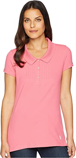 Peter Pan Pleat Front Polo