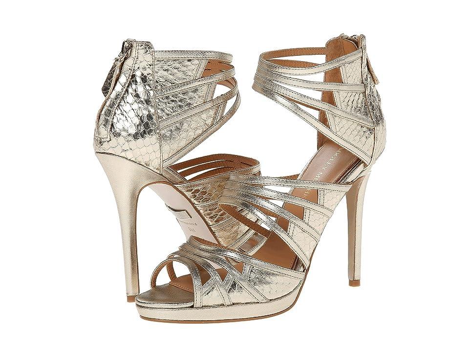 Badgley Mischka Fonda (Platino Metallic Leather) High Heels
