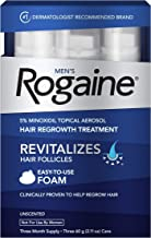 Men's Rogaine 5% Minoxidil Foam for Hair Loss and Hair Regrowth, Topical Treatment..