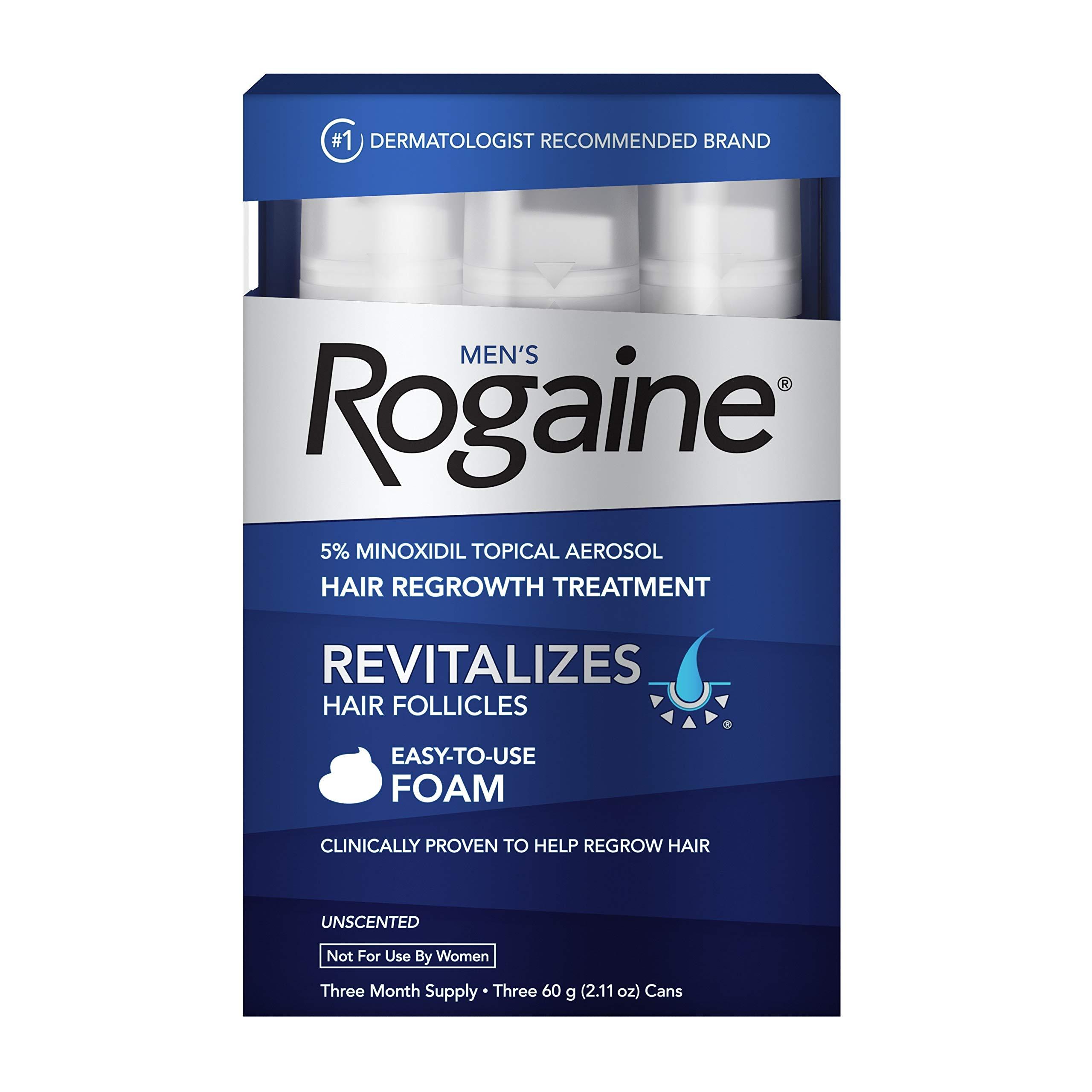 روجين 5٪ مينوكسيديل رغوة لفقدان الشعر وإعادة