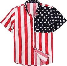 Best mens american flag button down shirt Reviews