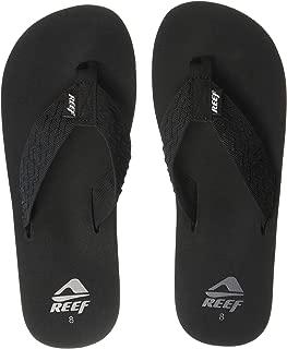 Mens Reef Smoothy Black Textile Lightweight Flip Flops SIZE 11